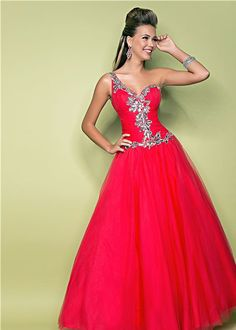 Beautiful red ball gown! - Pink by Blush 5216 Valentine Ball Gown #prom #promdresses #prom2013
