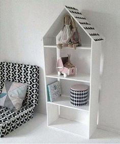 b/w kids decor. Big Doll House, Scandinavian Style Home, Kids Decor, Home Decor, Big Girl Rooms, Kidsroom, Kid Spaces, Kids Furniture, Diy For Kids