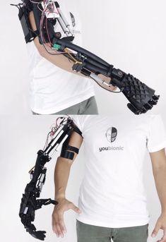 printer design printer projects printer diy project project Youbionic Printable Bionic Arm you can find similar pins below. 3d Printing Diy, Arte Robot, Futuristic Armour, Robot Arm, Armor Concept, Ex Machina, Robot Design, Mechanical Design, 3d Prints