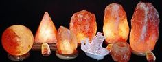 Salt Lamp, all natural and hand crafted sculptured shapes.