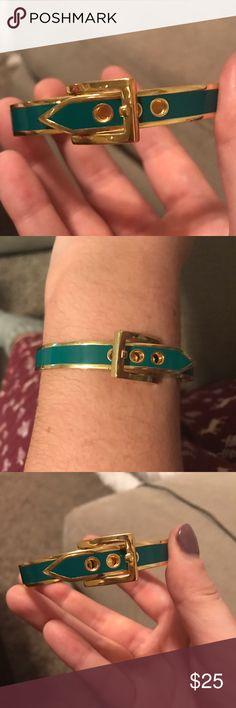 C Wonder Belt Buckle Bangle (Emerald Green) C Wonder Belt Buckle Bangle (Emerald Green). Only worn once. Perfect condition! C. Wonder Jewelry Bracelets
