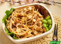 Twinkle Twinkle Spaghetti Bento - Heck, we wouldn't mind this one in our own lunch box!