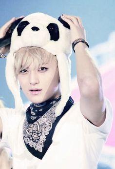 Cute bby Tao in his panda hat