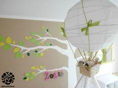 DIY lamp in girls room