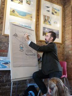 Benj visiting for Storytime Sunday Exhibition Display, Frame Display, Latest Books, Book Pages, Story Time, Whale, Original Artwork, Sunday, Sketches