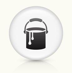 Paint Bucket icon on white round vector button vector art illustration