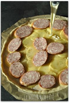 Pizza franc-comtoise Quiches, Flan, Cooking, Pizza, Salty Tart, Tarts, Cheese, Pudding, Kitchen