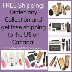 Because everyone loves FREE #Younique now gives free shipping on current Spring/summer 2016 collections shipping to the US and Canada! www.facebook.com/YounqiuebyBarbW