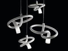 Blown glass pendant lamp NODO SP by Vetreria Vistosi design PIO&TITOTOSO…