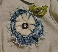 Цветы из джинсовой ткани. Обсуждение на LiveInternet - Российский Сервис Онлайн-Дневников