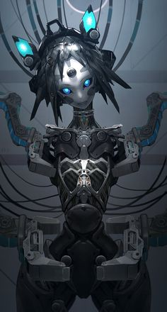 Discover recipes, home ideas, style inspiration and other ideas to try. Robots Characters, Fantasy Characters, Character Concept, Character Art, Concept Art Landscape, Cyberpunk Kunst, Arte Robot, Robot Girl, Robot Concept Art