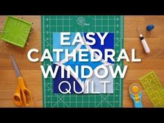Quilt Snips Mini Tutorial - Easy Cathedral Window - YouTube