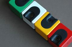 Braun Domino table lighters, designed by Dieter Rams in 1970
