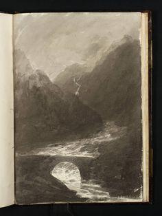 Joseph Mallord William Turner - Pont Aberglaslyn; Welsh Mountains