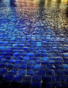 Walk into the blue. Piazza Navona, Rome, Italy