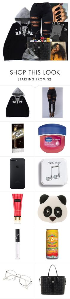 """"""""""" by kennisha84 ❤ liked on Polyvore featuring Vaseline, Theory, Victoria's Secret, Wattz Up, NARS Cosmetics, MCM and NIKE"""