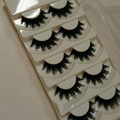 5 pairs of thick long wispy lashes eyelashes new in box synthetic. 5 pairs Makeup False Eyelashes