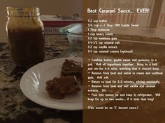 sugar free caramel sauce recipe, Trim Healthy Mama, THM- created by Heather Wilson