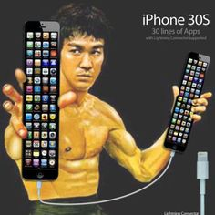 A satire of iphone. This refers to the fact that the iphone 5 was longer than the other iphones, and that the iphone 30s will be as long as a nunchuk