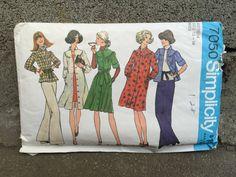 70's Simplicity 7050 Misses' Yoke Dress or Top (Belted) Pattern Size 12-14 Bust 34-36 by ElkHugsVintage on Etsy