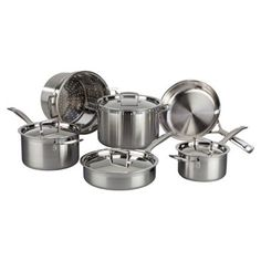 Check out this item at One Kings Lane! 10-Pc Stainless Steel Cookware Set