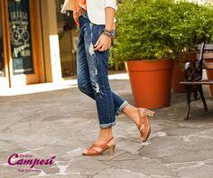 A cor canela é apaixonante e a costura da sandália Blaqueada proporciona um passo seguro e confortável!