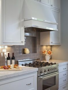 classic white kitchen hood