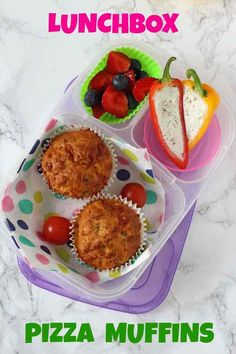 Easy one-bowl Pizza Muffins, perfect for the kids' lunch boxes or as an afternoon snack!
