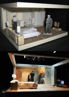 Before and after. Set model to real set in Benedict Andrews' Measure for Measure at Belvoir. http://www.belvoir.com.au/everybreath