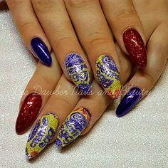 Beautiful Creme egg nails by the beautiful Bec Dawber