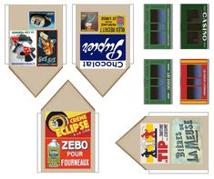 French Signs, Lyonnaise, Commerce, Paper Models, Ho Scale, Model Homes, Building A House, Jumping Jacks, Paper Crafts