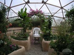 Dome Home Interiors | Greenhouse Interior Design, Design Of Tropical Greenhouse Dome