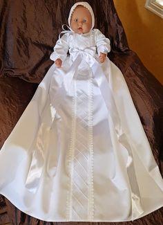 dåpskjole nr 201 christening gown nr 201 Girls Dresses, Flower Girl Dresses, Christening Gowns, Wedding Dresses, Design, Fashion, Layette, Baskets, Dresses Of Girls