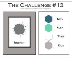 The Challenge #13 {Wintery Hues}