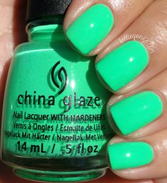 This is Treble Maker, which might be my favorite of the collection. It's a crazy neon bright green. I don't have anything close to this in my collection and I am head over heels for it! Two easy coats. I've also heard this one has stained for some people, but I didn't notice any.