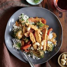 Chicken Stir-Fry with Peanut Sauce Recipe   CookingLight.com
