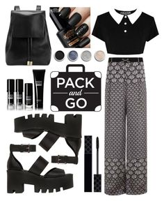 """Black and white Tokyo"" by brianaac ❤ liked on Polyvore featuring Windsor Smith, Gvyn, Gucci, Terre Mère, tokyo and Packandgo"