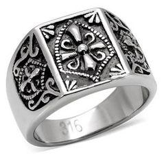 316L Stainless Steel Mason Knights Templar Ring LA-0287