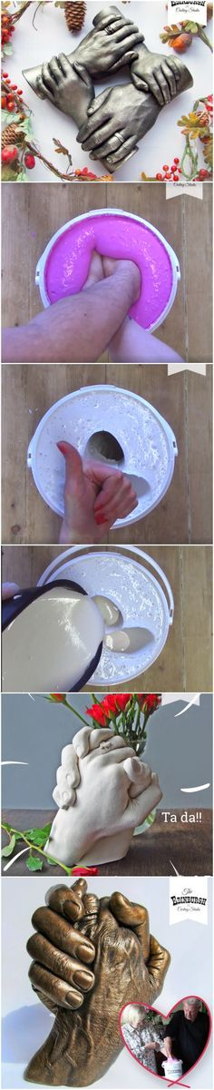 Vos mains d'amour en plâtre!!