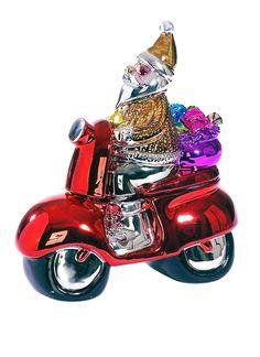 Santa auf Roller