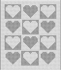 Baby Heart Windows Filet Baby Afghan Pattern