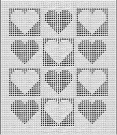Baby Heart Windows Filet Baby Afghan Pattern