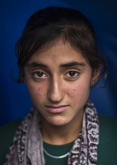 Yezidi Refugee Woman Displaced From Sinjar Living In Lalesh Temple, Kurdistan, Iraq | by Eric Lafforgue