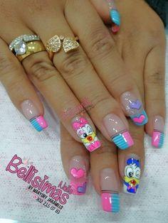 Erika, Lily, Nail Art, Colorful Nails, Pretty Nails, Mariana, Amor, Short Nail Manicure, Nail Manicure
