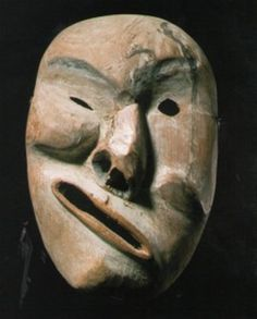 Inuit mask Yukon From guylesoeurs.com-What do you think this was expressing? Pamela