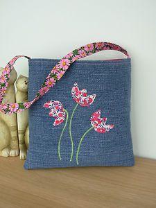 Handmade Little Girls Denim Tote Bag | eBay