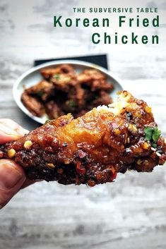 A thin, crackly batter for maximum crunch. A spicy, sweet sauce that will leave you licking your fingers. The BEST Korean Fried Chicken recipe! Fingers Food, Asian Recipes, Healthy Recipes, Healthy Food, Short Rib Recipes Crockpot, Asian Desserts, Healthy Desserts, Healthy Eating, Korean Fried Chicken