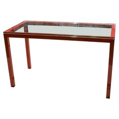 Vintage Lacquered Steel Console or Sofa Table For Sale at 1stDibs