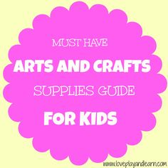 Arts and Crafts Supplies for Crafting with Children