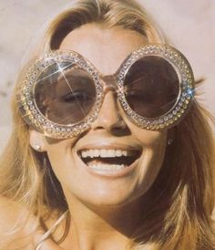 Glittering sunglasses photographed by Bruno Benini,1984
